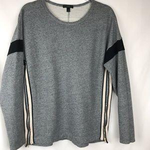 J Crew | Side Zip Sweatshirt Gray